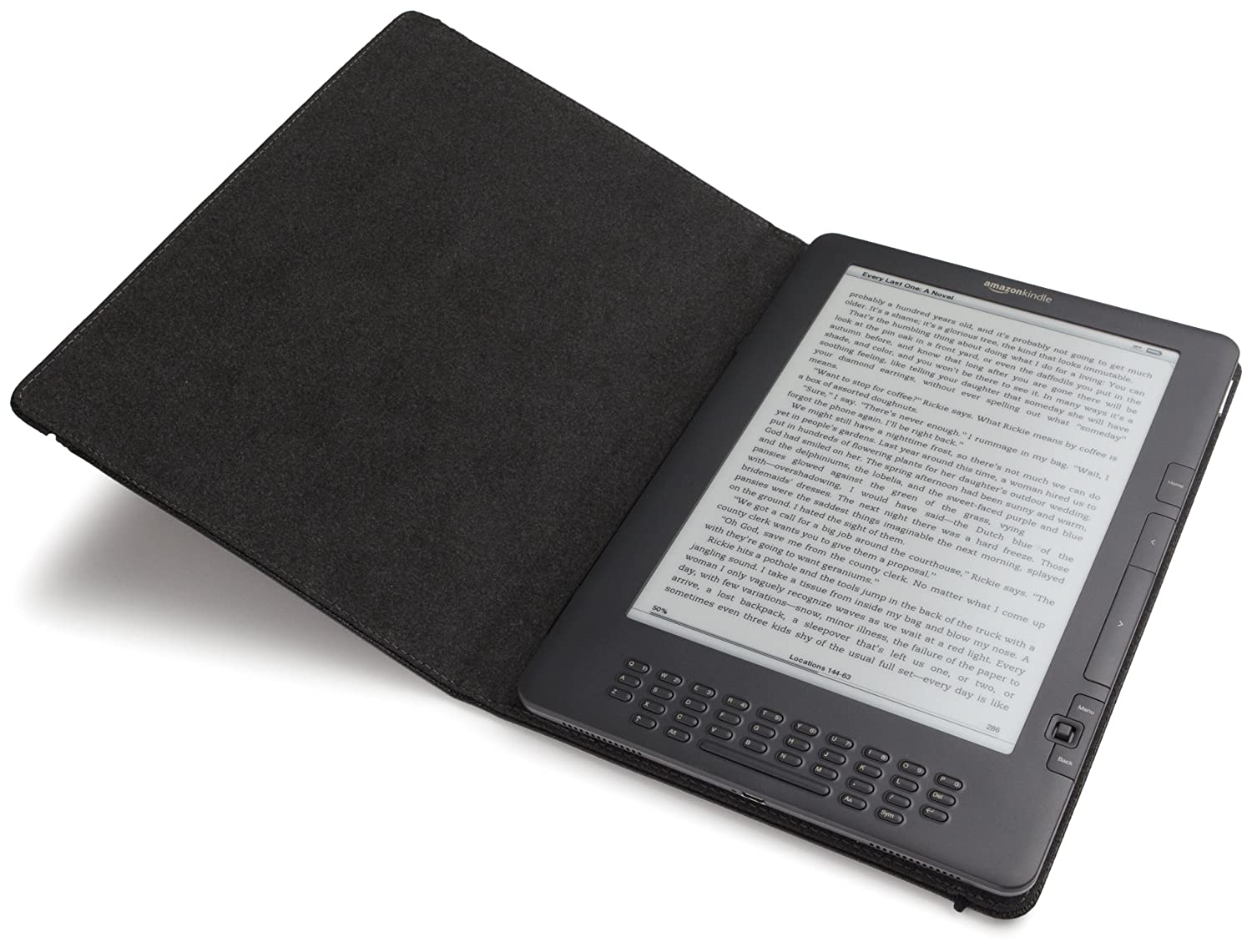 """Kindle DX Leather Cover, Black (Fits 9.7"""" Display, Latest"""