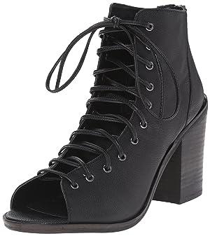 Steve Madden Women's Temptng Boot, Black Leather, 6 M US