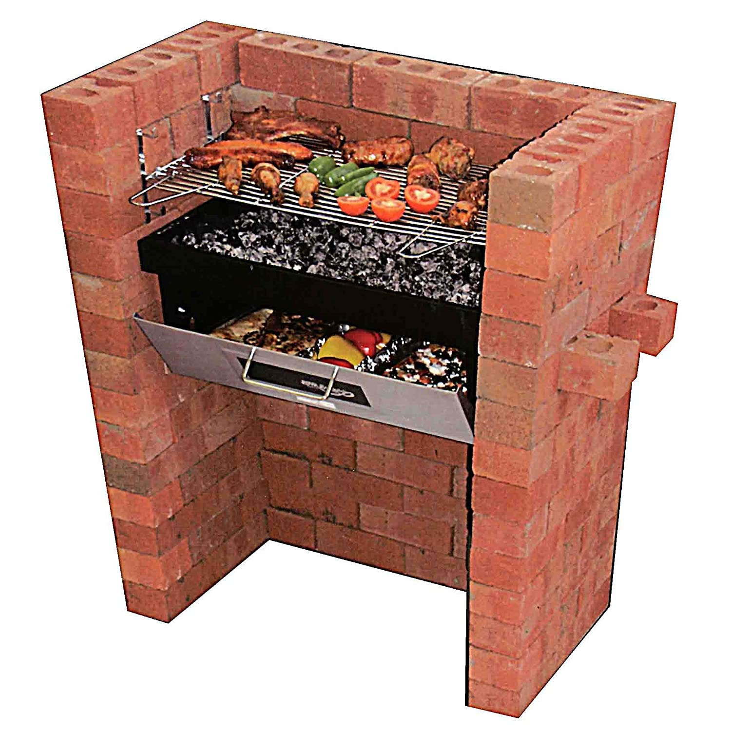 Brick Grills And Outdoor Countertops Building Your: New Garden Build Built In Brick Barbecue BBQ Grill & Pizza