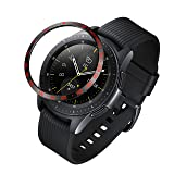 ANCOOL Compatible Samsung Galaxy Watch 42mm/Gear Sport Bezel Ring Adhesive Cover Anti Scratch Stainless Steel Protector Design for Galaxy Watch 42mm/Gear Sport -Red (Color: Q-09, Tamaño: 42mm)