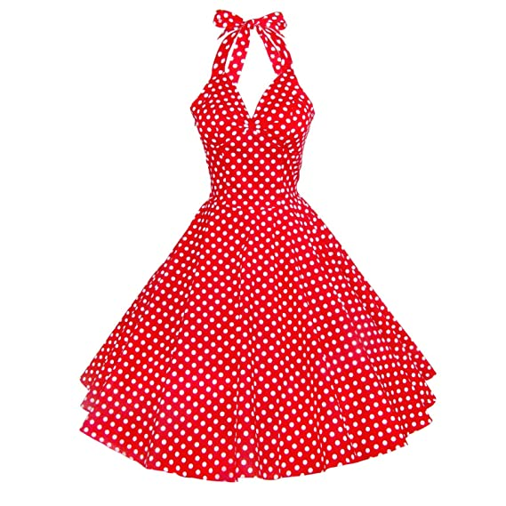 Maggie Tang Vintage Women's 1950s dots Rockabilly