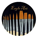 Eagle Art Artist Pointed-Round Paintbrush Set   10 Pieces Round Pointed Tip   Artist Detail Paint Brushes Set for Fine Detail & Art Painting, Acrylic Watercolor Oil, Nail Art, Miniature, Face Painting (Color: Face Paint Brush, Tamaño: Face paint Brush)