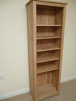 Libreria in legno di quercia, 800x 1800, CD e DVD con 5ripiani, ideale per studio o soggiorno
