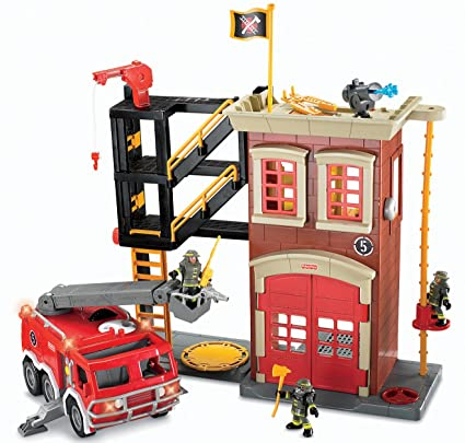 Fisher-Price Imaginext Firestation & Fire Engine