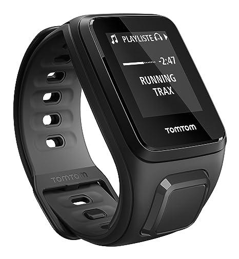TomTom Runner 2 Music + Casque BT - Montre GPS - Bracelet Fin Noir / Anthracite (ref 1REM.001.07)