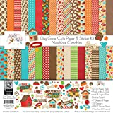 Paper & Sticker Kit - Dog Gone Cute - 17 Double-Sided 12x12 Papers with 33 Designs & 1 8X12 Sticker Sheet - Scrapbooking Card Making Crafting - by Miss Kate Cuttables (Tamaño: Paper & Sticker Kit)