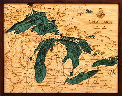 Great Lakes Ontario Map Great Lakes Topographic Map