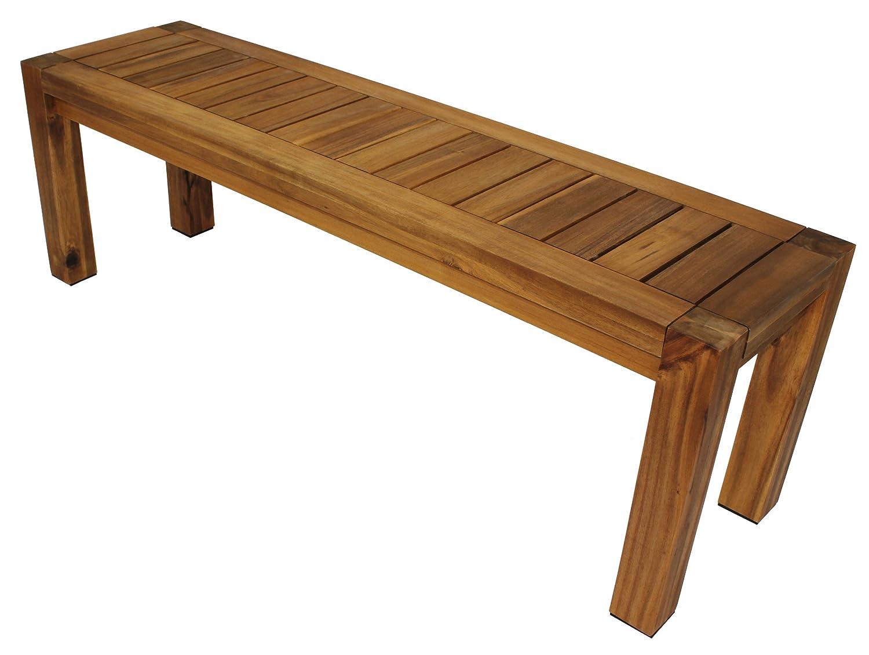 Sitzbank im modernen Loft – Design 142cm, Akazienholz, extra stabil bestellen