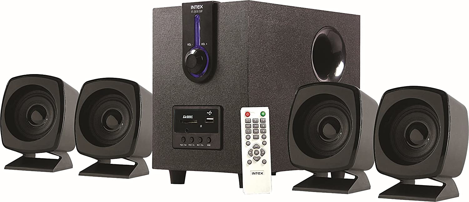 Upto 50% off On Computer Accessories By Amazon | Intex IT-2616SUF-OS 4.1 Computer Multimedia Speakers @ Rs.1,654