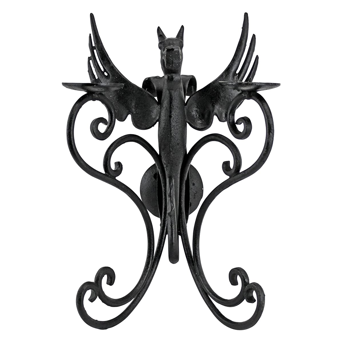 Design Toscano Castle Dragon Iron Wall Sconce