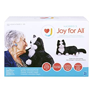 JOY FOR ALL Ageless Innovation Companion Pets | Black & White Tuxedo Cat | Lifelike & Realistic (Color: Black and White, Tamaño: 9inx15inx10in)