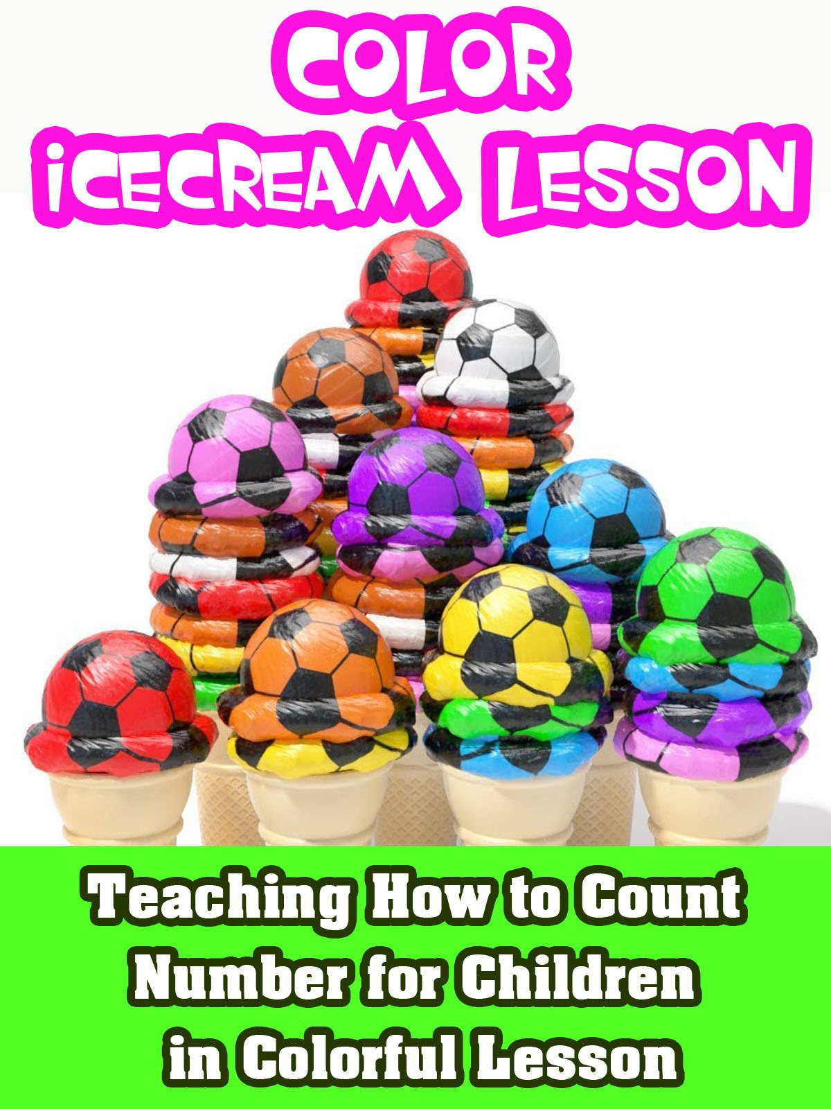 Teaching how to Count Number for children in colorful lesson