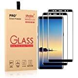 iAnder [2-Pack] Galaxy Note 8 Screen Protector [3D Glass] [Full Screen Coverage Edge to Edge]Tempered Glass Screen Protector for Samsung Galaxy Note 8 - Black
