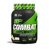 MusclePharm Combat 100% Whey Protein Powder, Vanilla, 2 Pound (Color: White, Tamaño: 2 lb.)