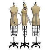 Female Professional Fashion Dressmaker Dress Form Mannequin Size 0 (Professional Series) (Color: cream)