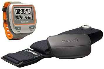 Garmin Forerunner 310XT avec ceinture cardio -  Montre GPS Multisports - Orange/Gris