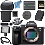 Sony ILCE7M3/B Alpha a7 III (A7M3) Mark 3 Mirrorless Digital Camera (Body Only) + 128GB SDXC Card + NP-FW50 Lithium Ion Battery + Professional 160 LED Video Light Studio Series Bundle (Tamaño: Body)