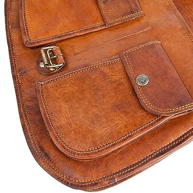 6bc5cf610d42 Fast delivery 81stgeneration Sac à bandoulière en cuir véritable épaule  main Sac Vintage Casual Dark Marron ...