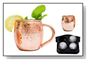 Solid Moscow Mule Copper Mug Set