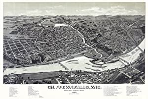 Chippewa Falls, Wisconsin aerial map