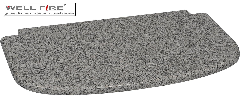 Granitplatte grau vor dem Feuerraum / Wellfire bestellen