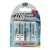 Ansmann 2700 mah AA Rechargeable Batteries 4pk (Tamaño: 1 Pack)