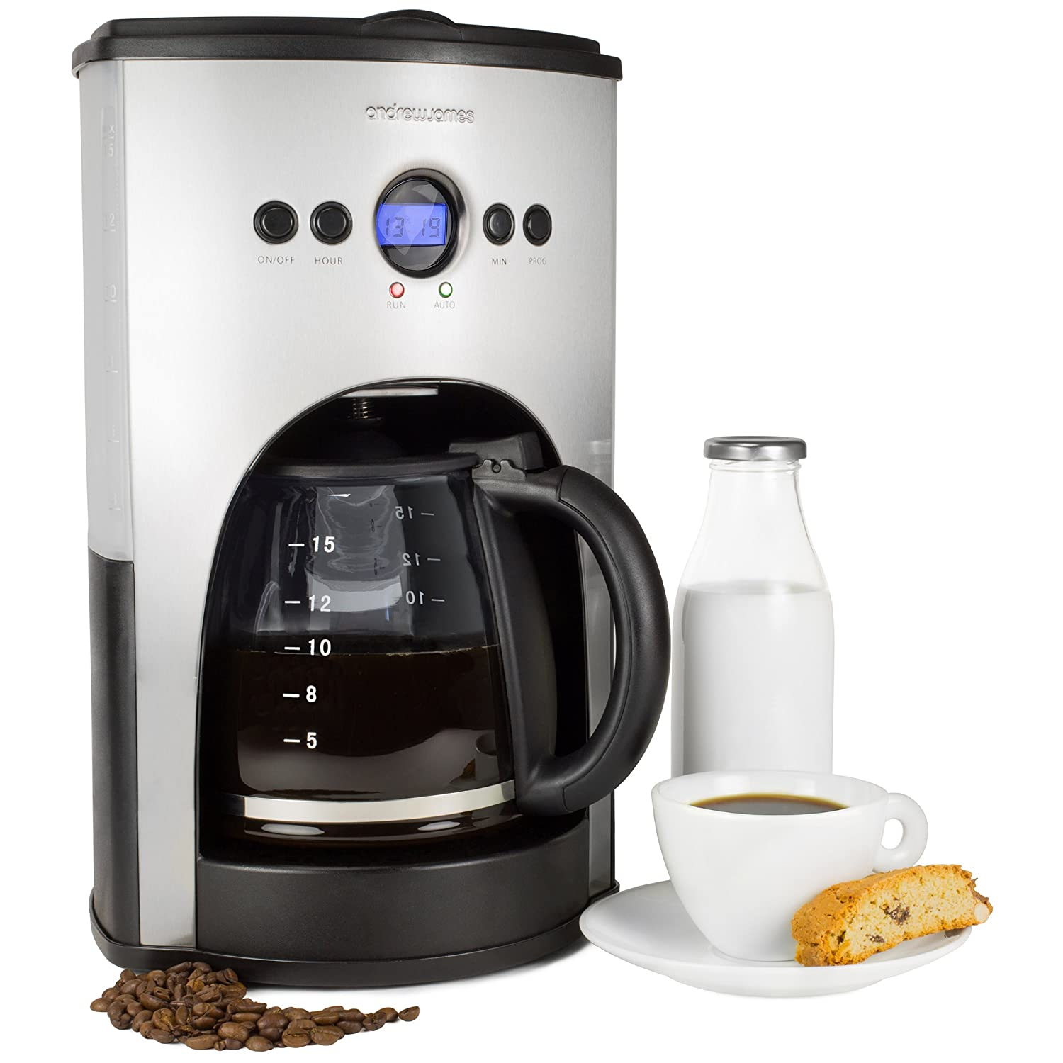 This Andrew James coffee maker is cheap and makes a very nice cup of coffee.