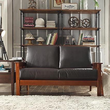 Metro Shop TRIBECCA HOME Hills Collection Bi-cast Leather Loveseat-Hills Collection Loveseats