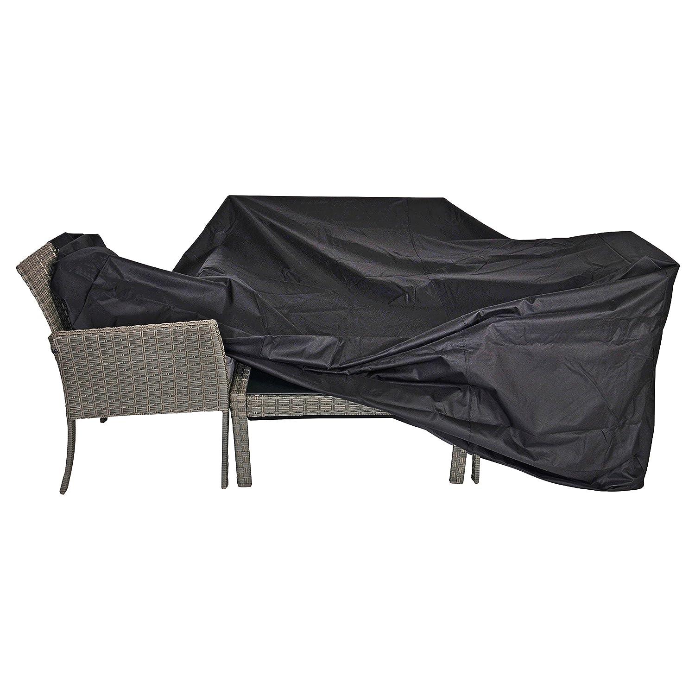 Schutzhülle für große Sitzgruppen schwarz 300x250x100 cm wasserdicht online kaufen