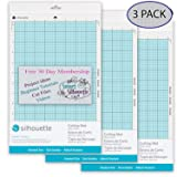 Silhouette America CUT-MAT-8-3T Portrait 2 Cut Mat (3 Pack), with 30 Day Smart Silhouette Membership