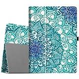 Fintie iPad Pro 12.9 Case - [Corner Protection] Premium PU Leather Folio Smart Stand Cover with Auto Sleep/Wake, Multi-Angle Viewing for iPad Pro 12.9 2nd Gen 2017 / 1st Gen 2015, Emerald Illusions (Color: ZA-Emerald Illusions)