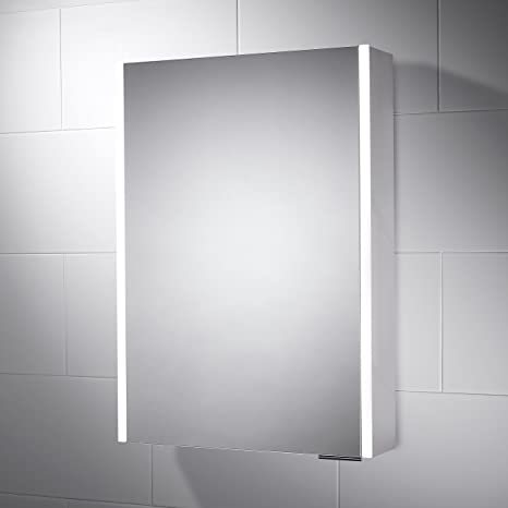 500 x 700 Sienna LED Illuminated Cabinet & Bathroom Mirror with Built In Shaver Socket and Motion Sensor