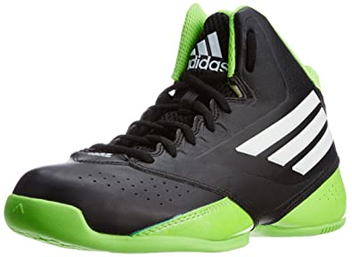 adidas Boy's 3 Series Black, Green and White Sports Shoes