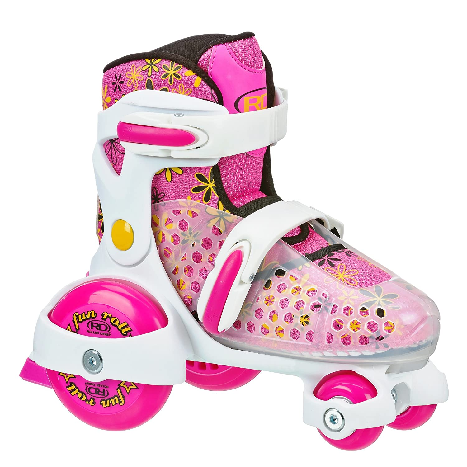 Quad roller skates amazon - Buy Roller Derby Girl S Fun Roll Adjustable Roller Skates Us Kids Small 11 2 Online At Low Prices In India Amazon In