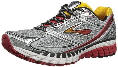 Brook's Mens Ghost 6 Running Shoes (9 B(M) US Narrow, BLK/WHT/LAVA/SLR/CITRUS)