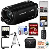 Panasonic HC-W580 Twin Wi-Fi HD Video Camera Camcorder with 64GB Card + Case + Tripod + LED Light + Reader + Kit