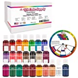 24 Color Cake Food Coloring Liqua-Gel Decorating Baking Primary & Secondary Colors Deluxe Set - U.S. Cake Supply 0.75 fl. oz. (20ml) Bottles (Tamaño: 24-Color Primary & Secondary)