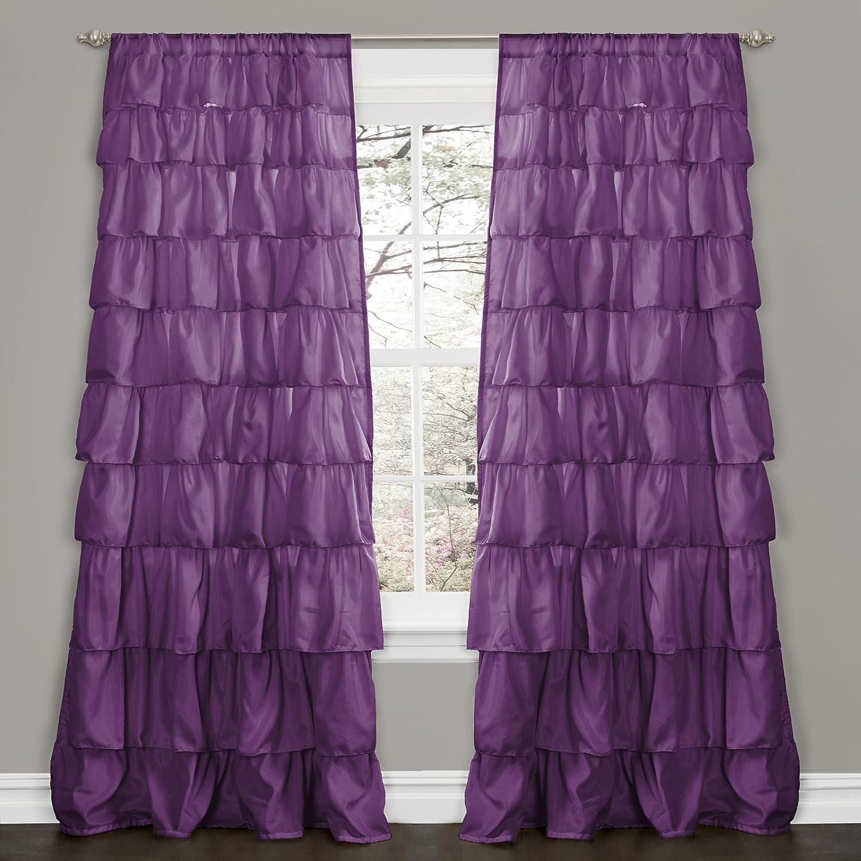 Ruffle Curtains 108 Ruffle Window Curtain