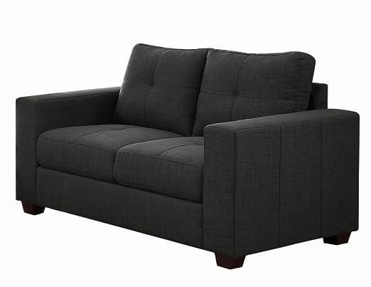 Homelegance Ashmont 9639-2 Love Seat, Dark Gray Linen Fabric