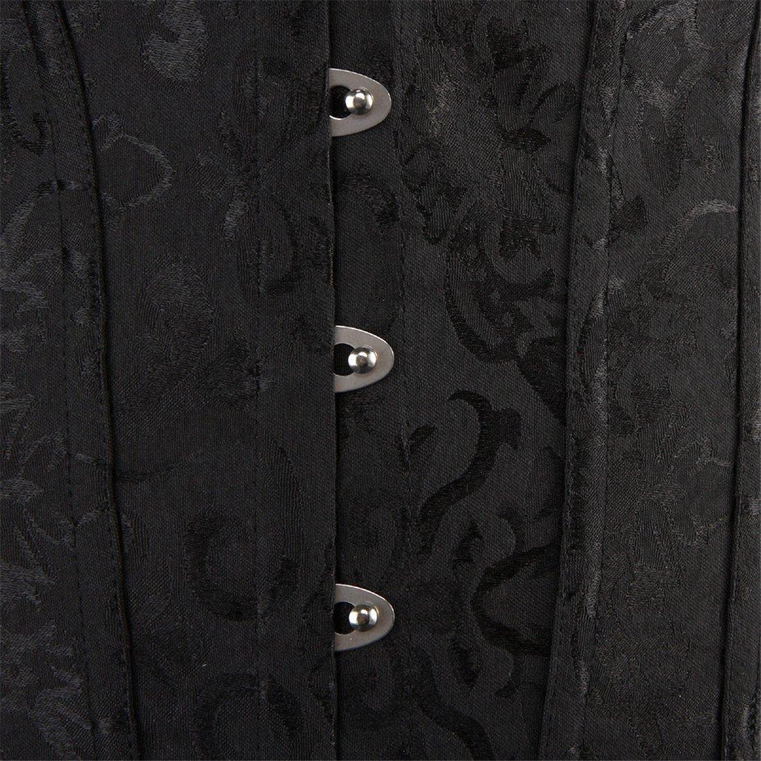 Women Lace Boned Corset Lingerie for Waist training Bustier Clubwear Plus Size 3