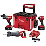 Milwaukee 2997-23SPO M18 FUEL 18-Volt Lithium-Ion Brushless Cordless Combo Kit (3-Tool) with Two 5.0 Ah Battery and PACKOUT Rolling Tool Box