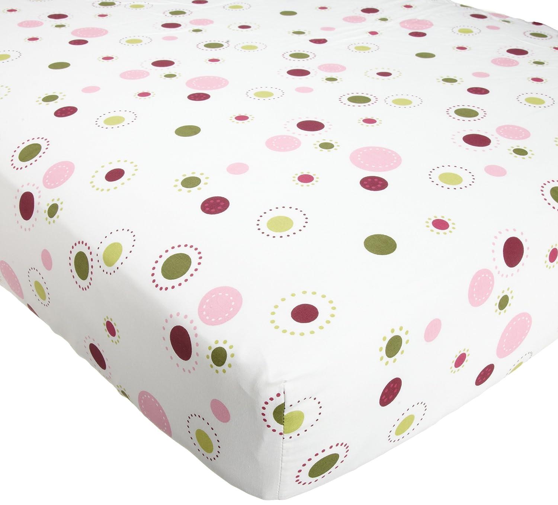 Lambs & Ivy Raspberry Swirl Sheet