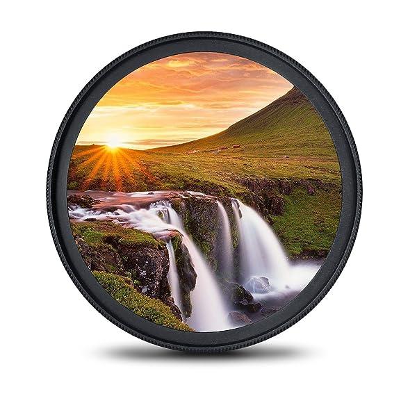 waka 49mm UV Filter, Ultra Slim 16 Layers Multi Coating UV Protective Lens Filter for Canon Nikon Sony DSLR Camera Lens (Tamaño: 49mm)