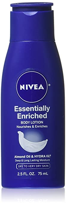 NIVEA Essentially Enriched Body Lotion, 2.5 Ounce (Pack of 6)