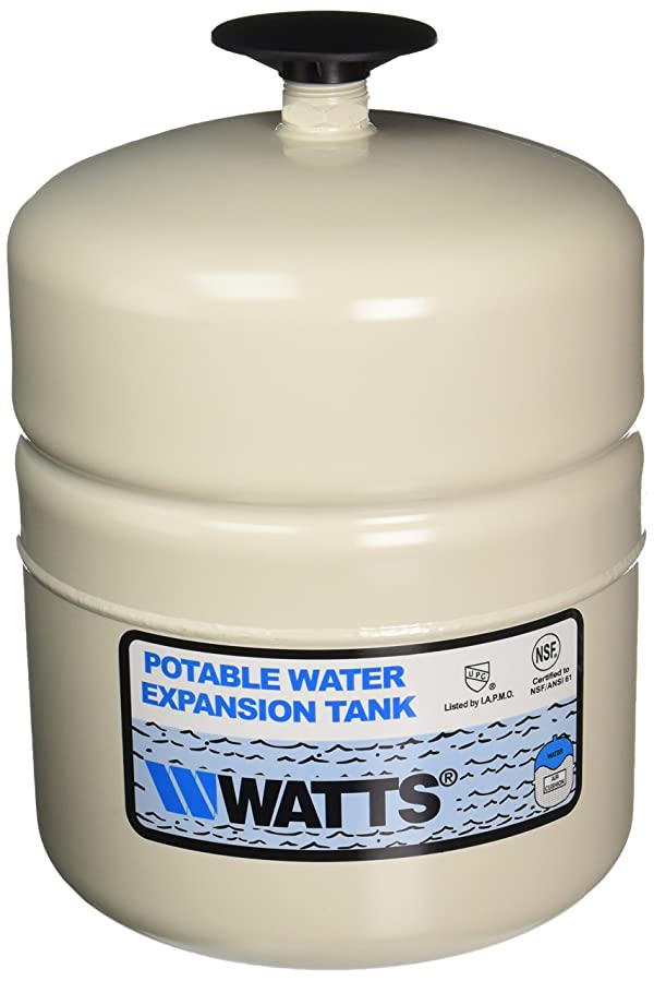 WATTS WATER TECHNOLOGIES GIDDS-1030401 Potable Water Expansion Tank, Model #Plt-5, Stainless Steel Nipple, 2.1 Gallon, Lead Free (Tamaño: .75)