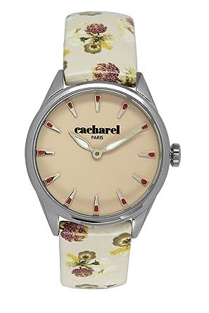 b06d376360 Cacharel - CLD 012/XX - Montre Femme - Quartz Analogique - Cadran Beige -  Bracelet Cuir Beige: $ Affordable