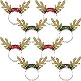 Amscan Santa's Reindeer Headbands, 8 Ct. | Christmas Accessory
