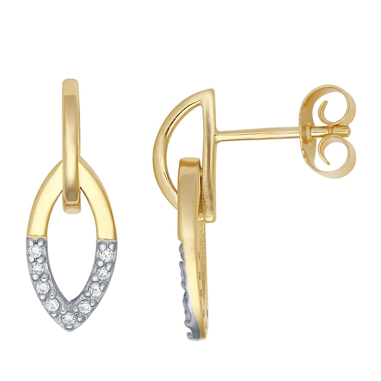 Miore Damen-Ohrringe 9 Karat -375 Gelbgold Zirkonia MM9001ZE günstig bestellen