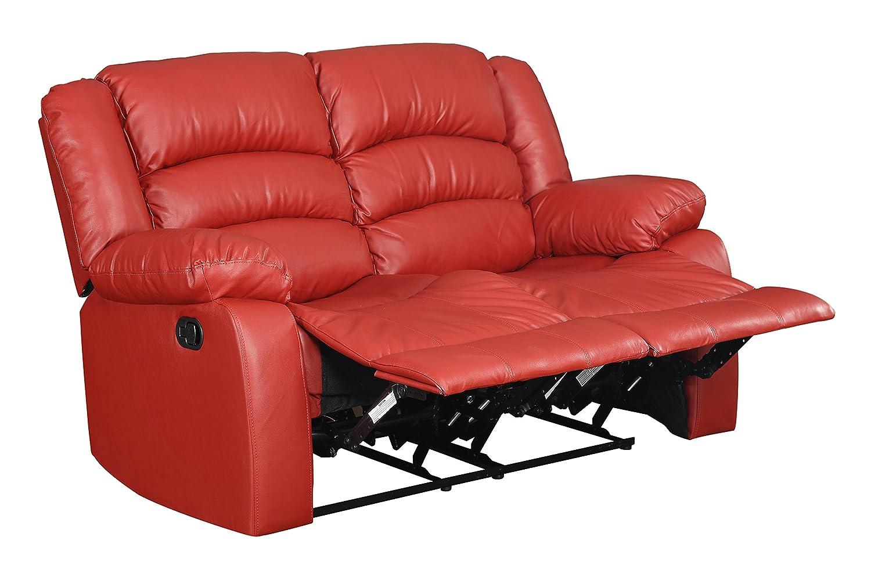 Glory Furniture G949-RL Reclining Loveseat - Red