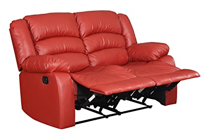 Glory Furniture G949-RL Reclining Loveseat, Red